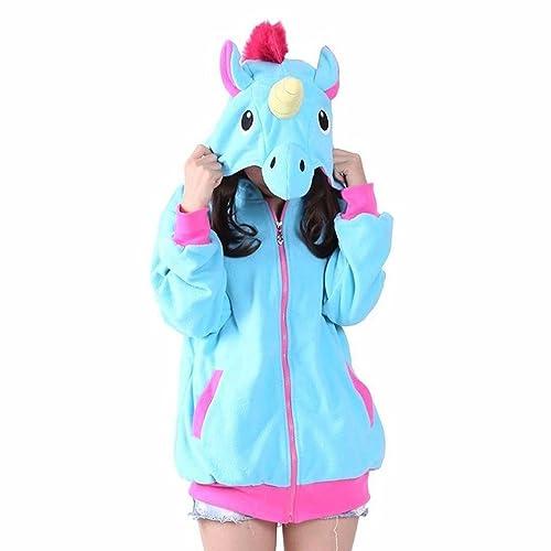 PALMFOX Unicornio Animal Chaqueta Suéter Cosplay Jacket Traje Carnaval  Navidad Kigurumi Regalo Ropa  Amazon. 3d61c9b74fa4