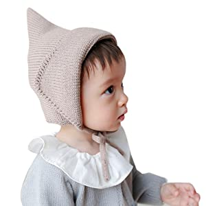 Baby Knitted Hats, Misaky Toddler Boy Girl Cap Crochet Solid Beanie Warm Cap