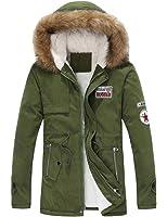 LKOMARKET-メンズ コート ダウン ジャケット 防寒服 フード付き スーパー暖かい厚い デザイン アウトドア ビジネス カジュアル 取り外し アウター 厚手 3色