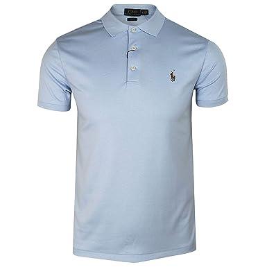 73ecccdf4ab6 Ralph Lauren Polo Jersey Bleu Ciel Logo Multicolore Slim fit pour Homme   Amazon.fr  Vêtements et accessoires