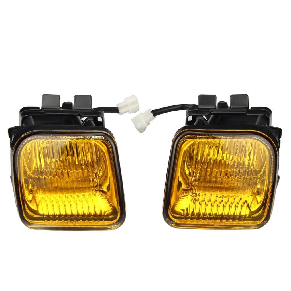 Fog Lights DZT1968 For 1996-1998 Honda Civic EK JDM Yellow Fog Lights Front Bumper Lamps FULL KIT by DZT1968