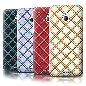 STUFF4 Phone Case / Cover for HTC One/1 Mini / Pack (15 pcs) / Criss Cross Pattern Collection / by Deb Strain / Penny Lane Publishing, Inc.