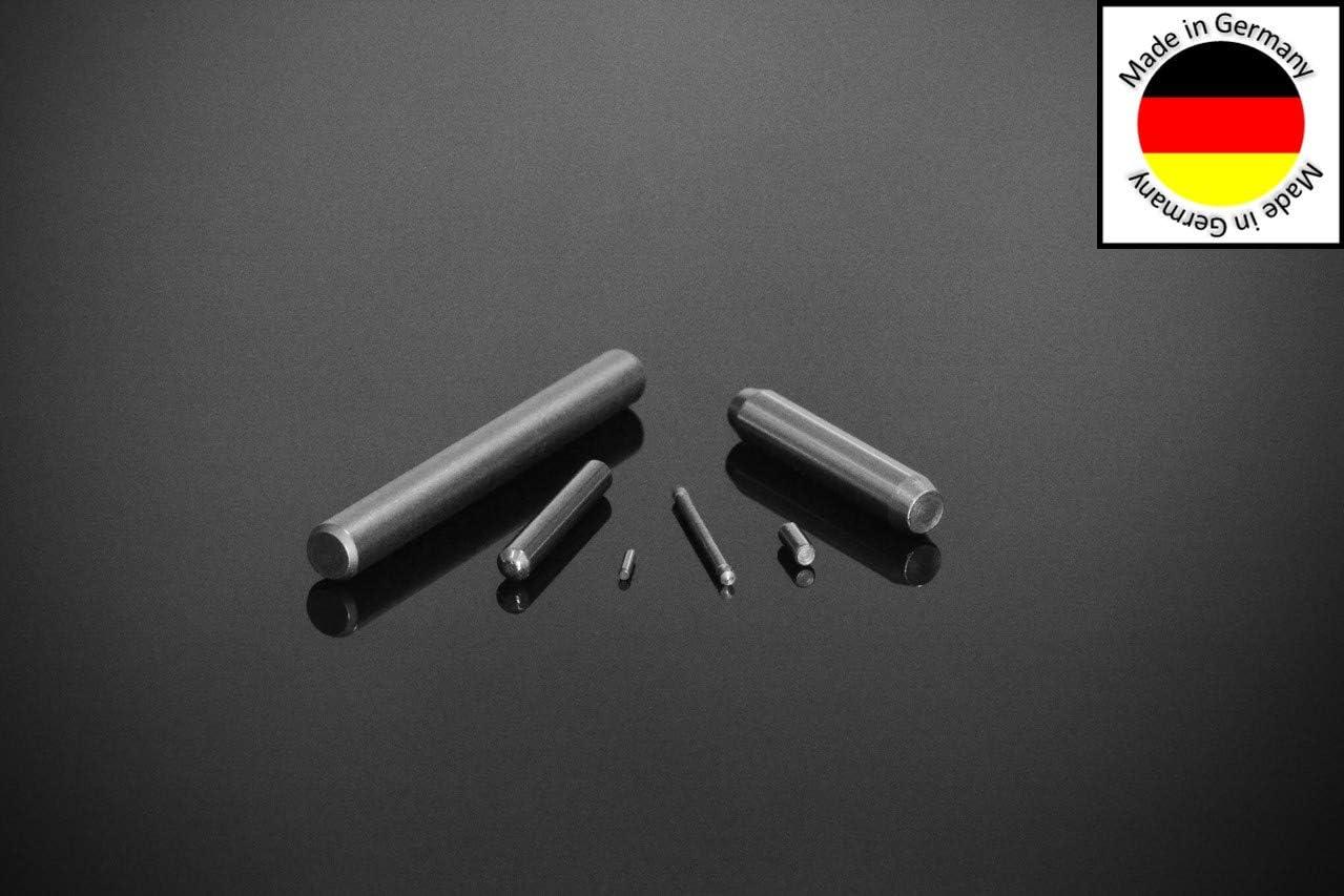 20 St/ück Zylinderstifte 5x40 DIN 7 Edelstahl V1A Zylinderstift Pa/ßstifte Toleranz M6