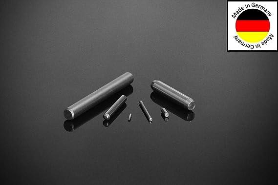 20 St/ück Zylinderstifte 6x40 DIN 7 Edelstahl V1A Zylinderstift Pa/ßstifte Toleranz M6