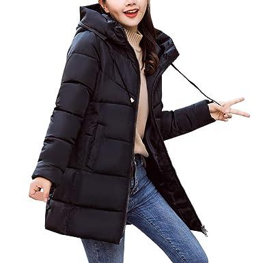 8efffe4640 Clearance! Women Winter Warm Hooded Thick Warm Slim Down Jacket Long Puffer  Coat Overcoat (