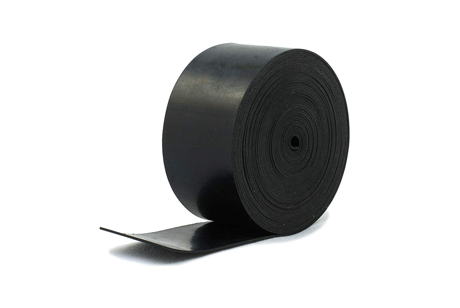 Solid Neoprene Black Rubber Strip 25mm wide x 1mm thick x 5m long