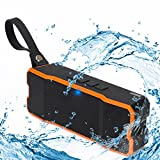 #10: Kisreal Mini Stereo Bluetooth Speaker Portable Rechargeable Wireless Speaker 3D Surround Compatible with Smartphones, Tablets and MP3 Devices