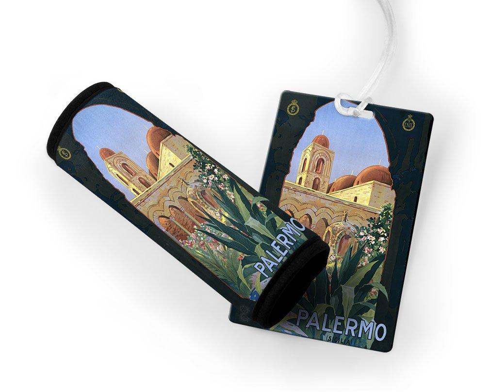 Palermo Vintage Poster Luggage Finder Tag & Wrap