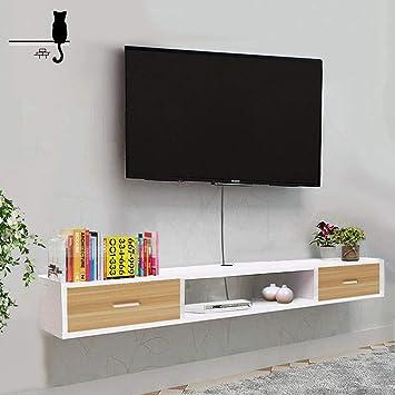 AFEO-soporte para televisor Gabinete de TV montado en la Pared Estante de Audio y Video