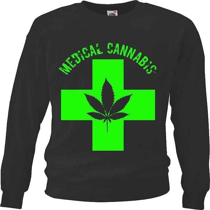 Sudaderas Suéter El hachís - Cannabis - Kiffen - Marihuana - Hierba - legalice - 70s Hippie in Negro: Amazon.es: Ropa y accesorios