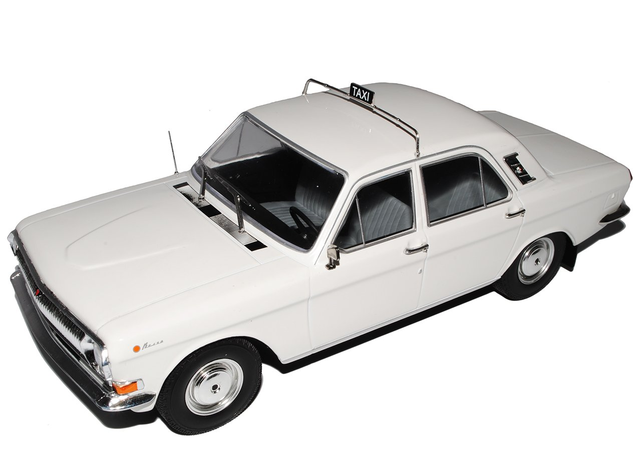 Model Car Group Wolga GAZ M24 Limousine Beige Taxi 1967-1992 1/18 Modell Auto