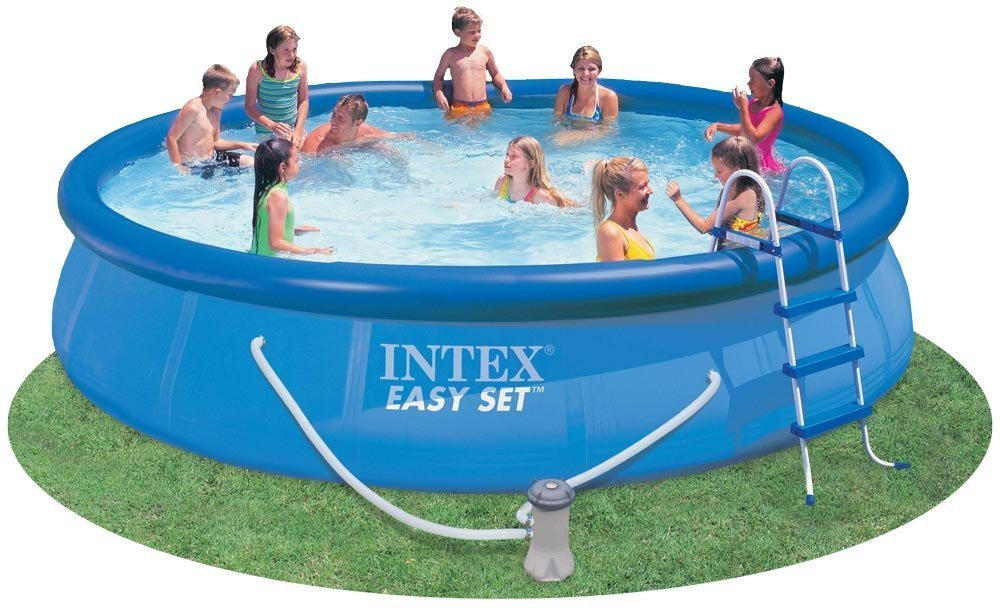 amazoncom intex 54913eg easy set pool set 15 feet by 36 inch blue discontinued by manufacturer full sized inflatable pools garden outdoor