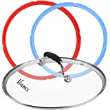 9 inch Tempered Glass Lid for Instant Pot 6 Quart, Silicone Sealing Rings for Instant Pot 5 qt or 6 qt (2 Pack).