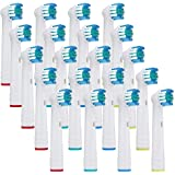 20x NeliCo Replacement Toothbrush Heads Compatible with Oral-B Electric Toothbrush – Precision Clean – Rotating Brush Head for Superior Clean