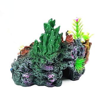 Niocase Fish Tank Decoration, Resin Cueva de Coral Ornament para Cangrejo Camarón: Amazon.es: Productos para mascotas