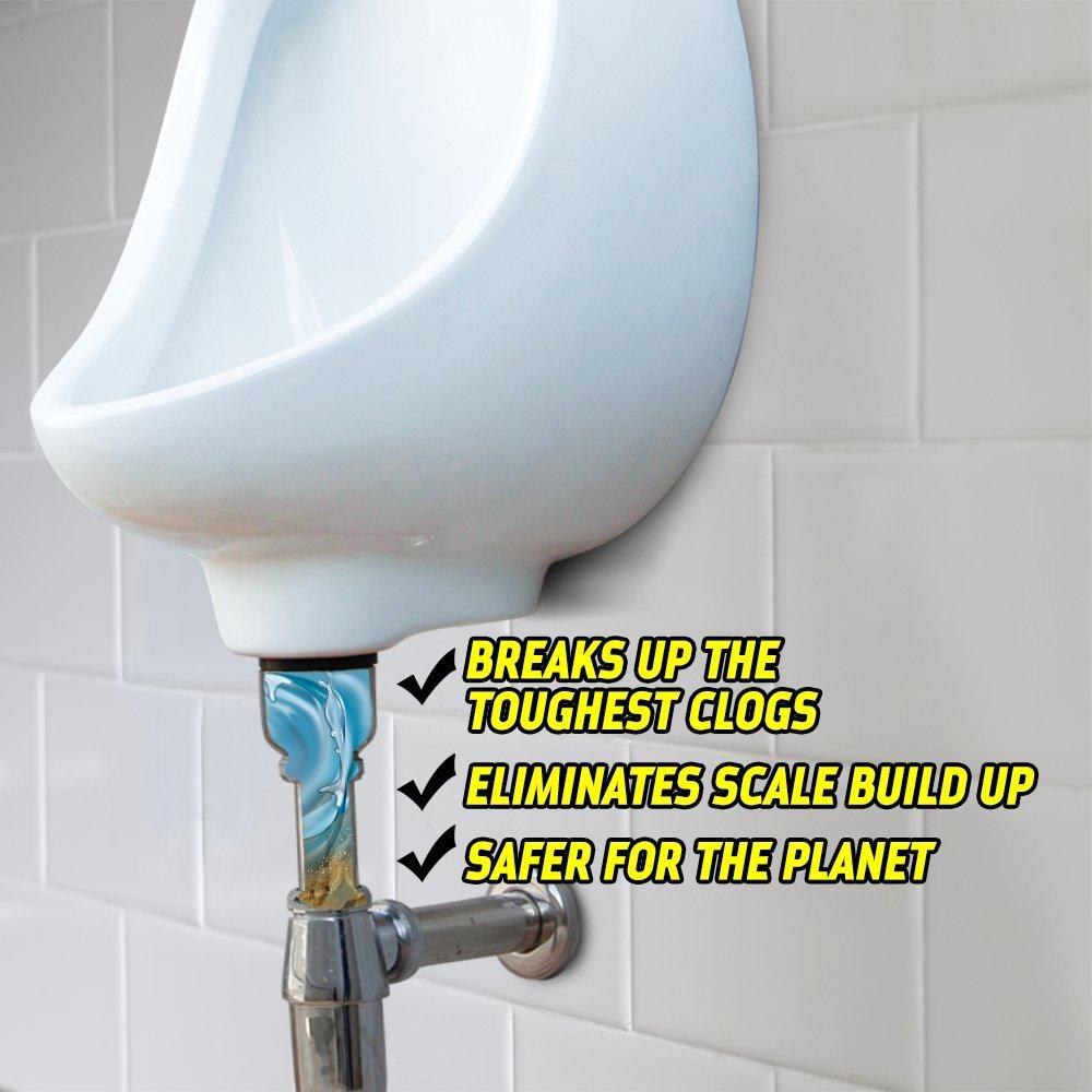Urinal Clog Remover 25 lb Pail Urinal Calcium Remover Urinal Drain Opener Urinal Scale Remover Urinal Chemicals Green Gobbler Urinal Clog Eliminator