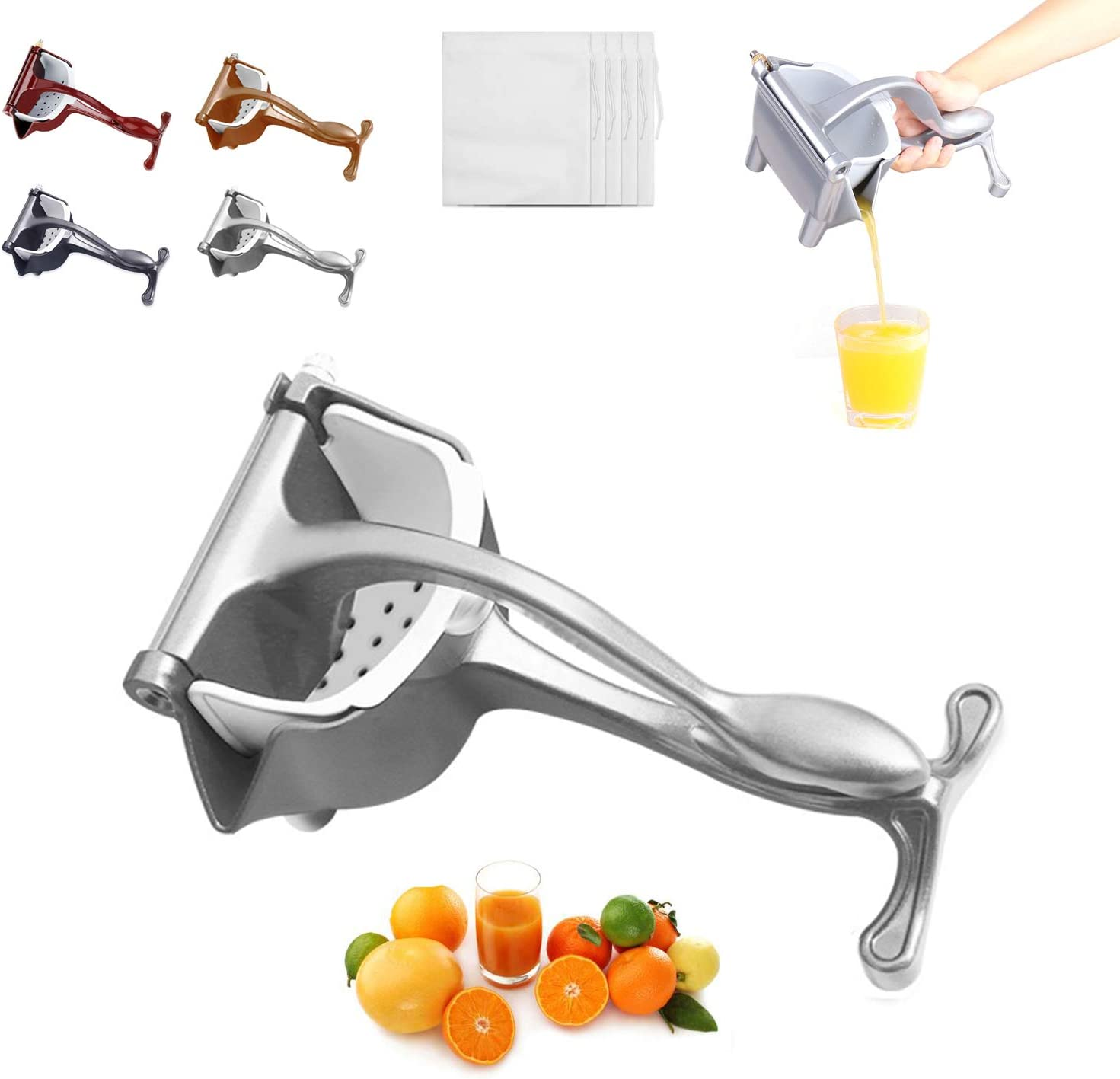 Lemon Squeezer High Quality Juicer - Stainless Steel Hand Juicer Citrus Lime Squeezer Manual Juicer (Silvery)