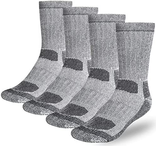 Buttons & Pleats Wool Socks for Men Women (Pack of three/4) 80% Merino Thermal Warm Boot Sock