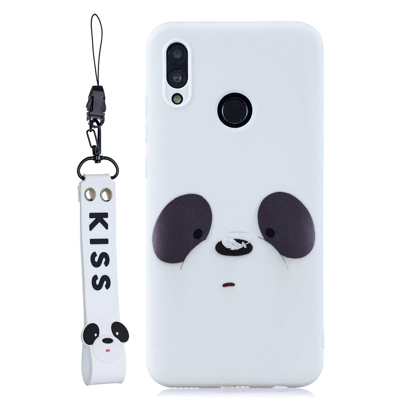 Oso Everainy Funda Compatible para Huawei P Smart 2019//Honor 10 Lite Silicona TPU Gel con cord/ón Cover para Huawei Honor 10 Lite Bumper Ultrafina Goma Caso Caucho Antigolpes