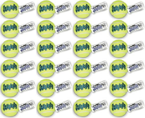 Kong Air Dog Squeaker Tennis Ball Large 24pk (12 x 2pk)