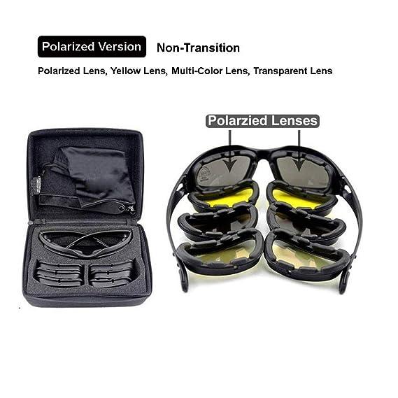 EnzoDate Daisy C5 armée Lunettes polarisées 4 Lens Kit, Sports de Plein air  Jeu de Guerre Militaire Lunettes de Soleil Moto vélo pour Hommes (1  lentille ... f45787adafae