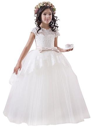 339643cbd princhar Lace Tulle Flower Girl Dress Little Girl Toddler Wedding Dresses  US 2T Ivory