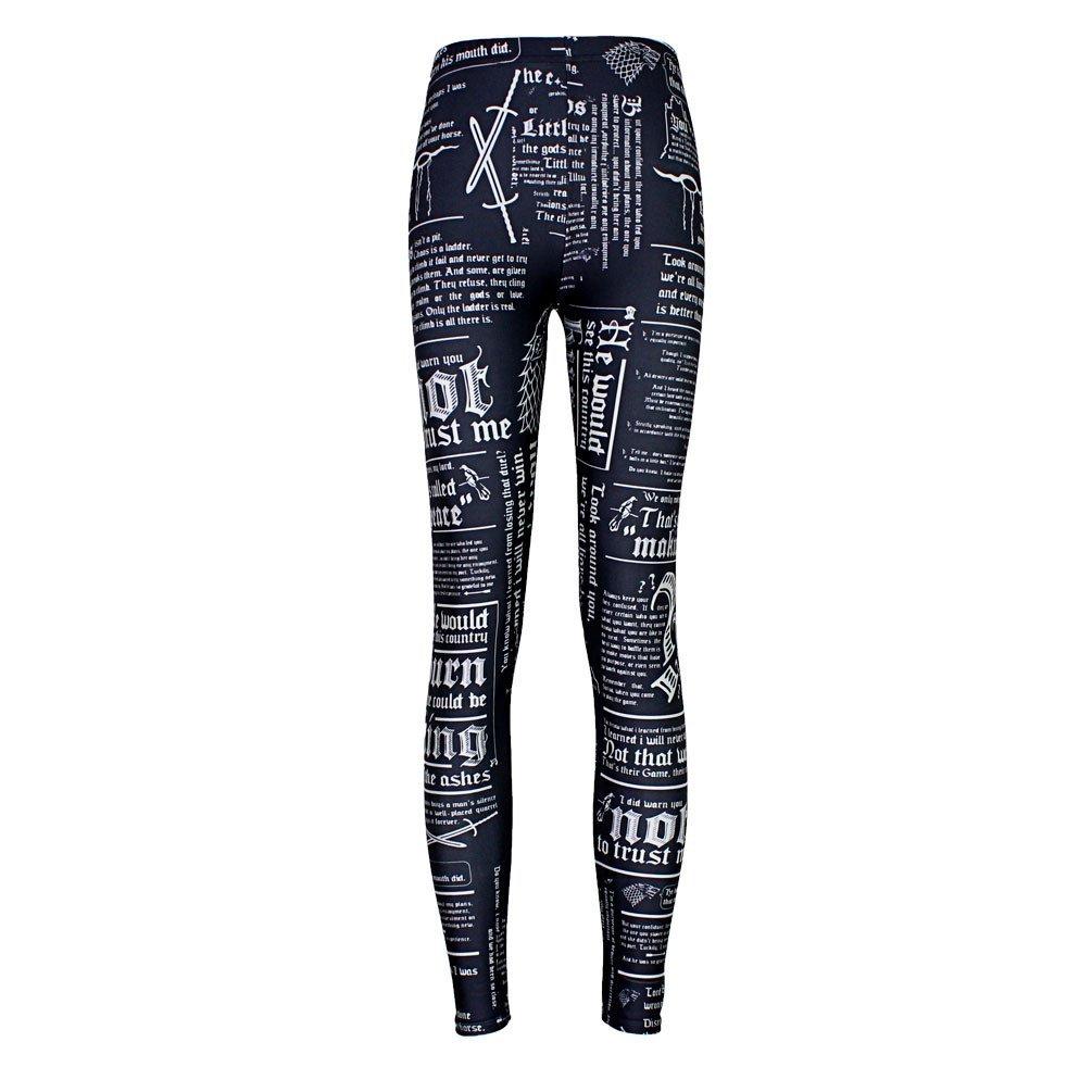 JOYHY Women's Plus Size High Waist Printed Leggings Pants Footless Tights JY