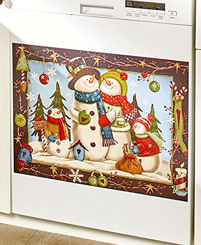 Country Snowman Dishwasher Magnet