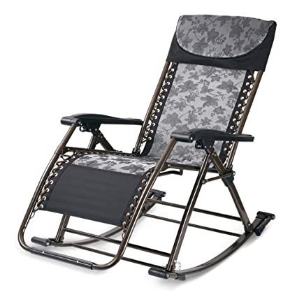 Rocking Chairs Living Room Balcony Lazy Chair Multi-Function Folding Health Chair Elderly Lounge Chair