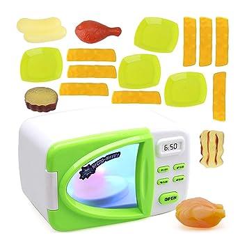 Toyvian 20 Piezas de Cocina de Juguete de microondas para ...