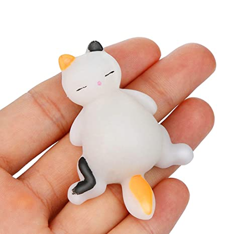 Squeeze Squishies Toy Squishyies Mochi Lazy Cat Squeeze Healing Fun Kawaii Stress Reliever Toys Gifts (Beige): Amazon.com: Grocery & Gourmet Food