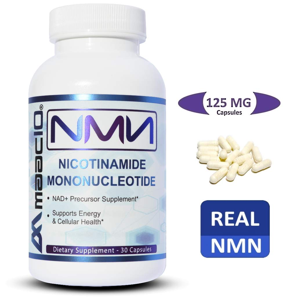 MAAC10 125mg NMN Nicotinamide Mononucleotide Supplement. Direct NAD+ Precursor. Supports DNA-Repair, Sirtuin Activation & Energy. (30 Capsules)