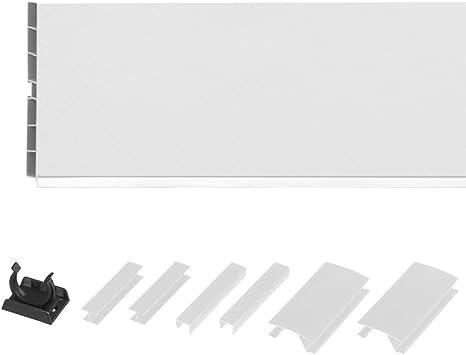 Holzbrink 150cm Sockelblende Sockelleiste Fur Einbaukuche 150mm Hohe Weiss Hochglanz Hbk15 Amazon De Kuche Haushalt
