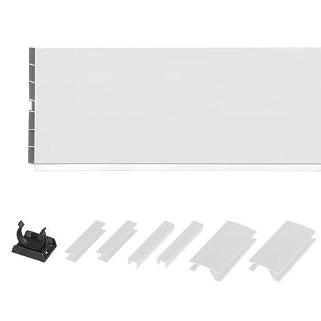 HOLZBRINK 150cm Sockelblende Sockelleiste für Einbauküche 150mm Höhe WEISS  Hochglanz - HBK15