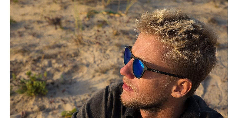 Northweek Wall Jibe, Gafas de sol Unisex, Multicolor (Matte Black/Blue Polarized), 45