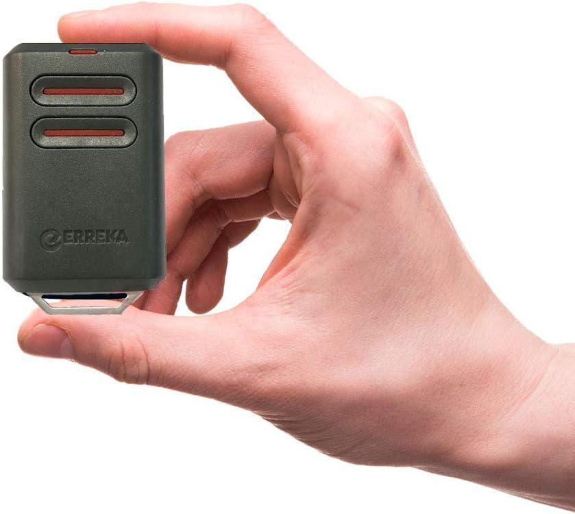 ERREKA KUMA KU02 Mando De Garaje De 2 Botones Canales 433 MHz Compatible Con Erreka Luna Y Reson Nuevo Modelo M/ás Resistente