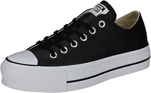 Oferta amazon: Converse CTAS Lift Clean Ox Black/White, Zapatillas Mujer Talla 35 EU