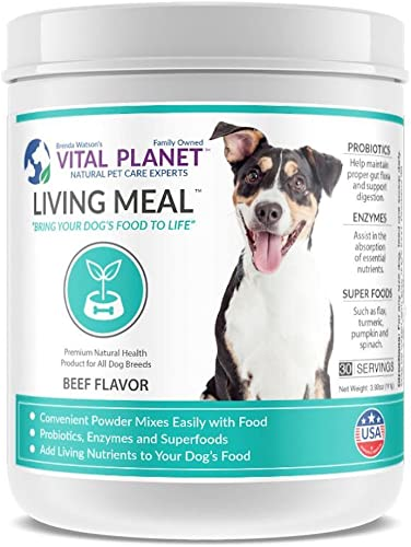 Vital Planet – Living Meal for Dogs – Organic Daily Superfood Blend for Dogs – 30 Servings