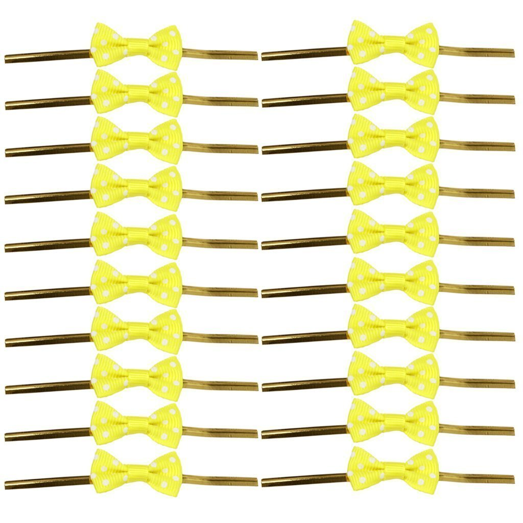 Approx.20pcs Bowknot Gift Wrapping Twist Ties for Party Cookie Candy Bags A