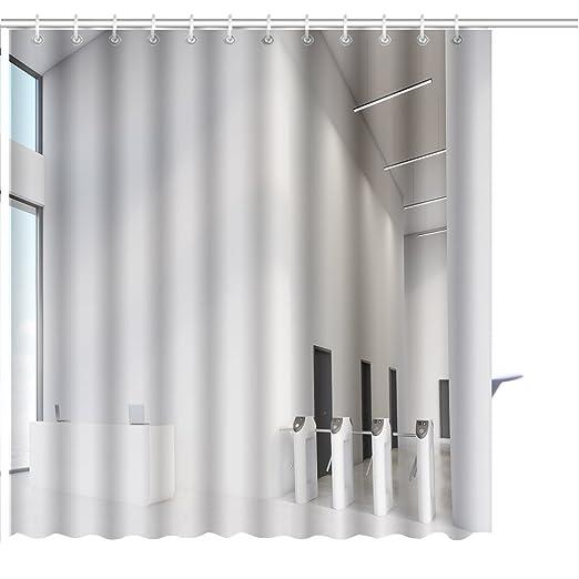MuaToo Cortina de ducha grande ventana recepción escritorio ...