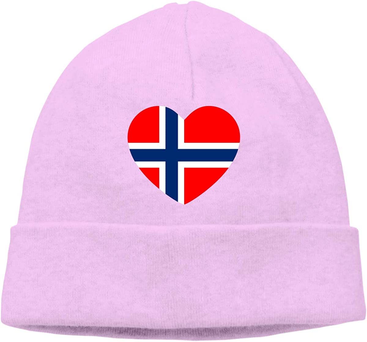 Beanie Hat Norway Flag Heart Warm Skull Caps for Men and Women