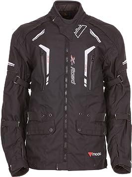 modeka Chaqueta X de Road Moto Chaqueta Textil chaqueta moto Tour Chaqueta Negro Talla 5 X l: Amazon.es: Coche y moto