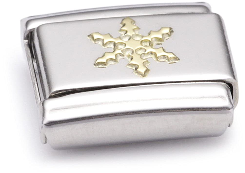 Nomination - 030109 - Maillon pour bracelet composable Mixte - Acier inoxydable et Or jaune 18 cts
