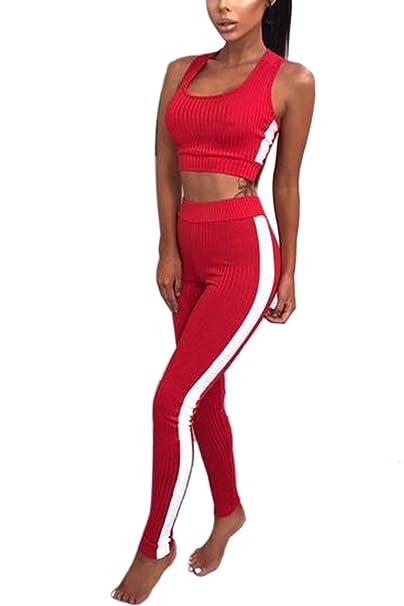5d12a2939583b Trajes De Yoga Deportes Conjuntos Sujetador Las Mujeres  Amazon.es  Ropa y  accesorios