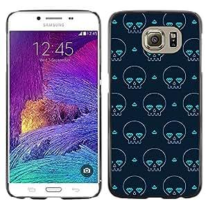 TopCaseStore / la caja del caucho duro de la cubierta de protección de la piel - Skate Poker Street Art Cards - Samsung Galaxy S6 SM-G920