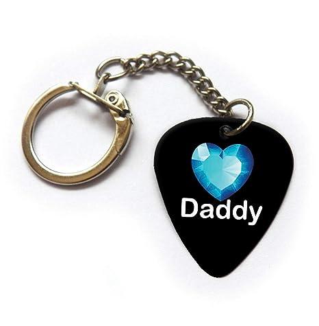 Daddy - Llavero con púa de guitarra azul: Amazon.es ...