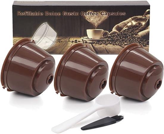 Ukia 3Psc Cápsulas Filtros de Café Recargable Reutilizable / Filtro de Café la Cápsula de Café Llena Puede Reemplazar el Modelo de Dolce Gusto: Amazon.es: Hogar