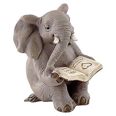 Top Collection Miniature Garden Elephant Reading Book : Garden & Outdoor