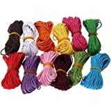 12 Colors 10M 1mm Cotton Cords Strings Ropes for DIY Necklace Craft Making