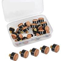 YOTINO 20Pcs Puntas de Billar Duro de 10mm Puntas de Repuesto de Rosca de Latón con Punteras de Billar Pool Tornillo…
